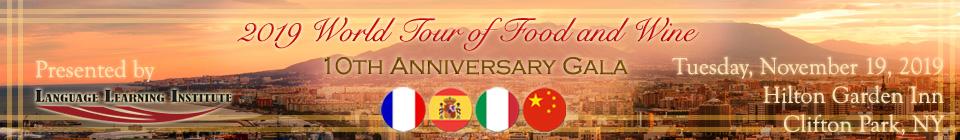 2019 World Tour of Food and Wine: 10th Anniversary Gala & International Cabaret