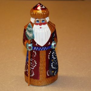 Front view of a Christmas figurine