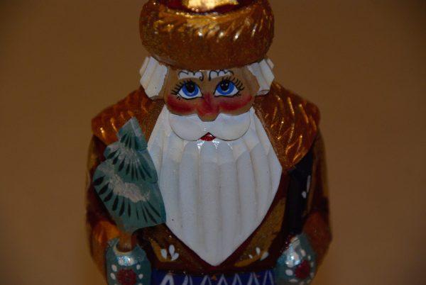 St. Nicholas figure facial details