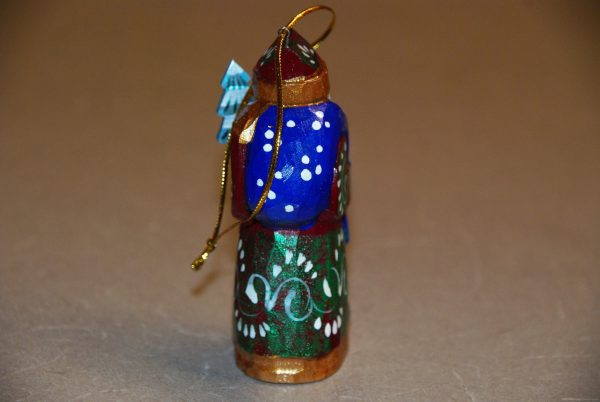 Rear view of St. Nicholas Christmas Figurine