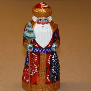 Frontal details of a St. Nicholas Figurine