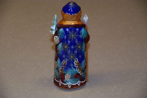 Rear paint details on St. Nicholas Figurine