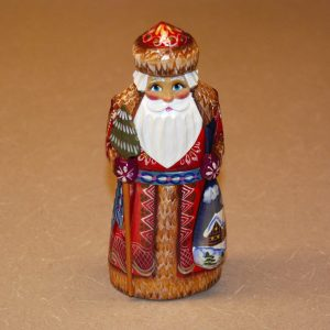 Front of a St. Nicholas Christmas Figurine