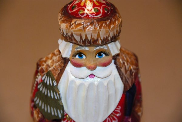 St. Nicholas Figurine's face and hat