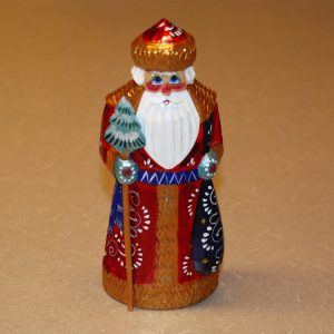 Full front details of St. Nicholas Christmas Figurine